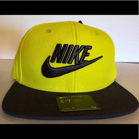 Nike Other - Nike True Youth Cap Sz 4-7 Kids Hat Volt Yel Gry